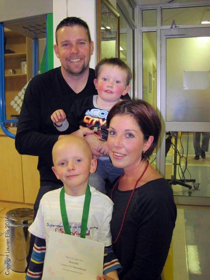 Dean's Last Chemo on 1st August 2014.